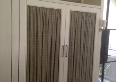 Custom Fabric Cabinet