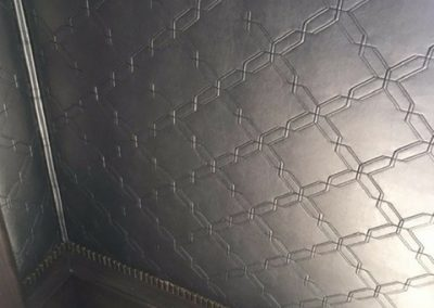 Stitched Leather Walls Solid Nailheads
