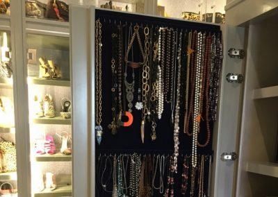 Custom Velvet Jewelry Closet