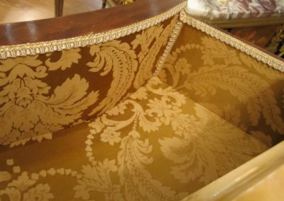 Custom Satin Upholstery