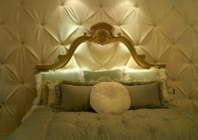Custom Tufted Seed Pearl Headboard