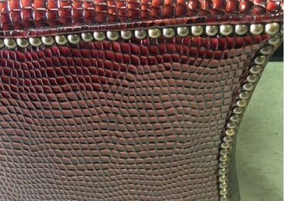Custom Upholstery Footstool Detail