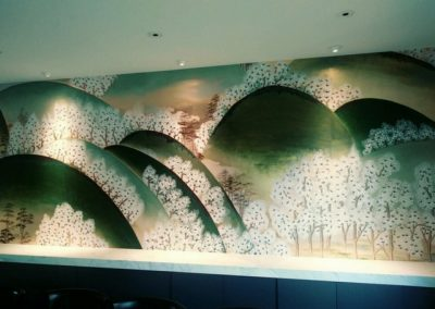 deGournay Wall Covering Dining Room