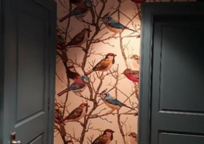 Sparrows acrylic backed fabric by Kravet