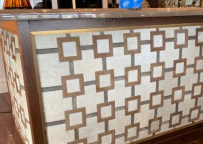 Custom Leather Pattern Bar-